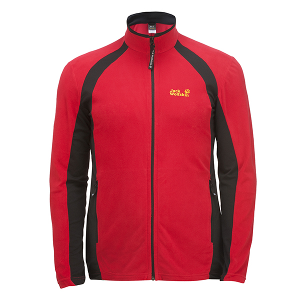 JACK WOLFSKIN MEN DYNAMIC FULL ZIP TANGO RED