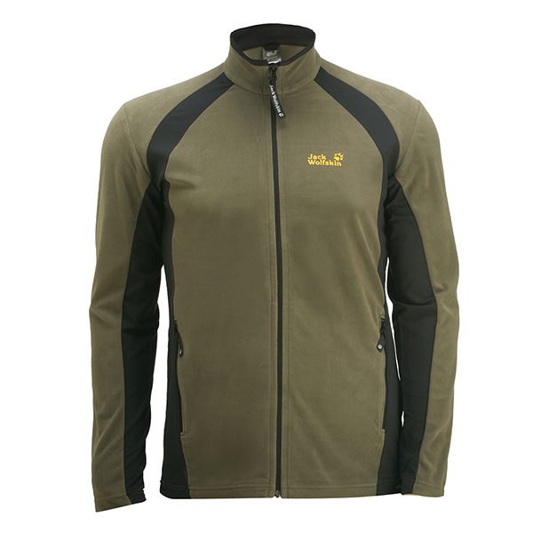 JACK WOLFSKIN MEN DYNAMIC FULL ZIP GRANITE