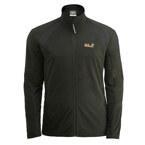 JACK WOLFSKIN MEN DYNAMIC FULL ZIP BLACK