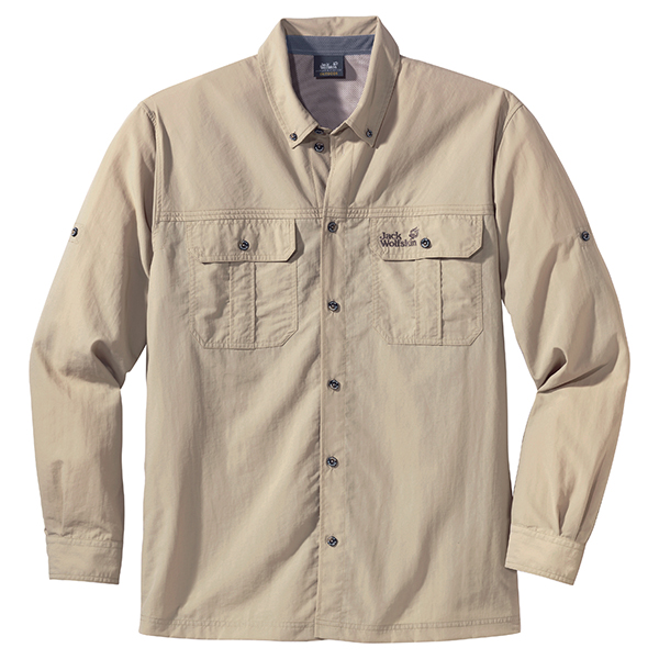 JACK WOLFSKIN MEN SIERRA SHIRT PURE SANDS