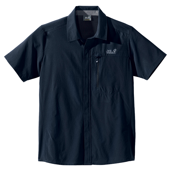 JACK WOLFSKIN MEN ASCENT SHIRT BLUE GRAPHITE