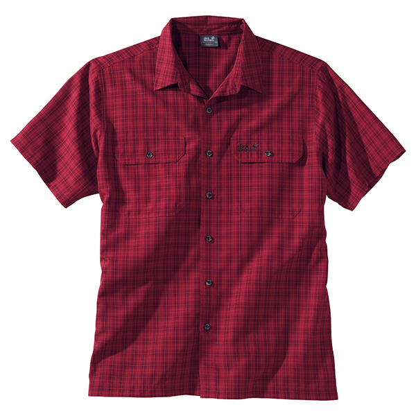 JACK WOLFSKIN MEN TUMBLEWEED RED SHADOW CHECKS