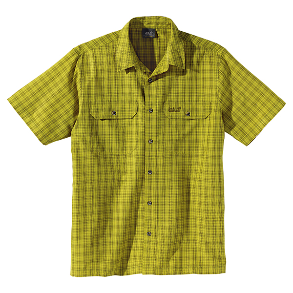 JACK WOLFSKIN MEN TUMBLEWEED WILD LIME CHECKS