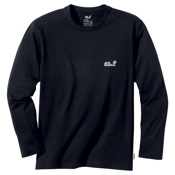 JACK WOLFSKIN MEN BASIC LONGSLEEVE BLACK
