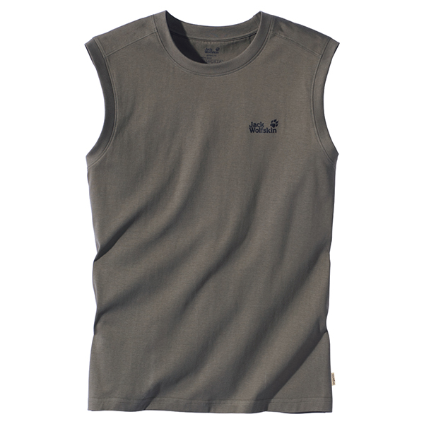 JACK WOLFSKIN MEN BASIC TANK TOP BASALT