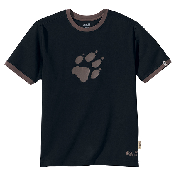 JACK WOLFSKIN MEN BLURRY PAW T BLACK