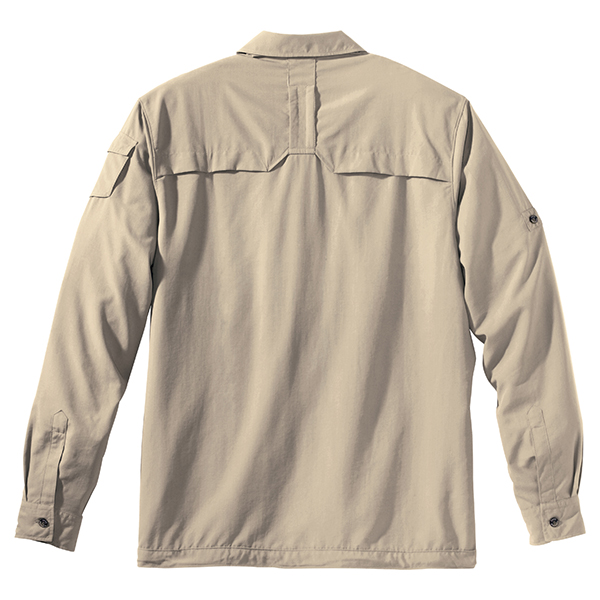 JACK WOLFSKIN MEN MOSQUITO SAFARI SHIRT PURE SANDS