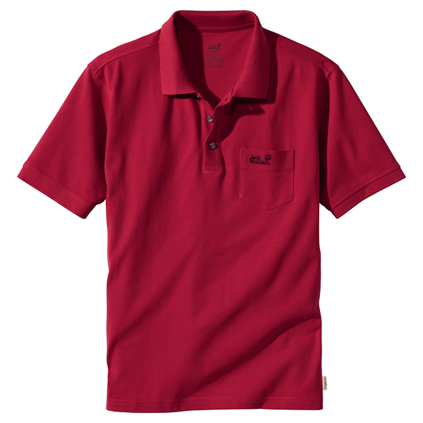 JACK WOLFSKIN MEN POLO SHIRT INDIAN RED