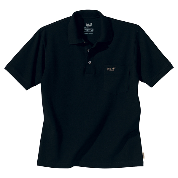 JACK WOLFSKIN MEN POLO SHIRT BLACK