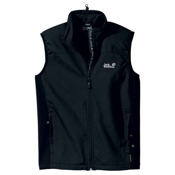 JACK WOLFSKIN MEN ACTIVATE VEST BLACK