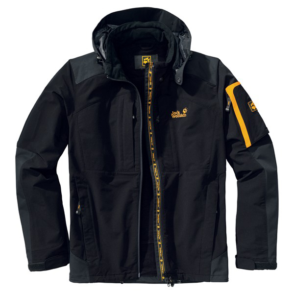 JACK WOLFSKIN MEN TRAVERSE JACKET BLACK