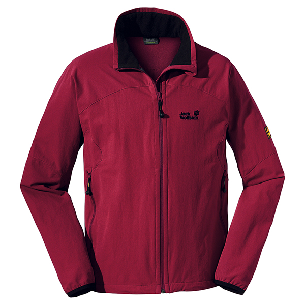 JACK WOLFSKIN MEN ACTIVATE JACKET DARK RED
