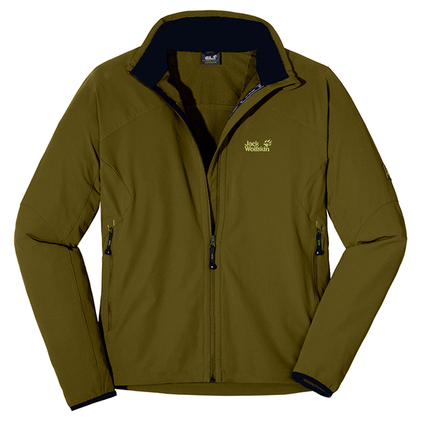 JACK WOLFSKIN MEN ACTIVATE JACKET TUNDRA GREEN