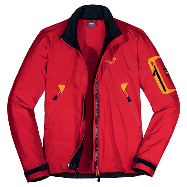 sono felice diplomato impermeabile  CHEAP JACK WOLFSKIN MEN MUDDY PASS JACKET PEAK RED FOR SALE