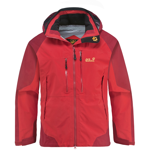 JACK WOLFSKIN MEN ROUGH ROCK JACKET PEAK RED