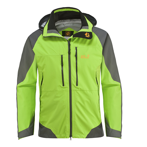 JACK WOLFSKIN MEN ROUGH ROCK JACKET LEAF GREEN