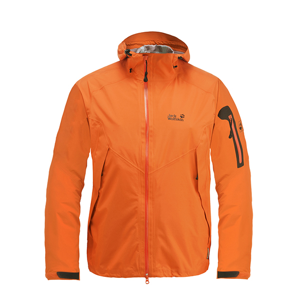 JACK WOLFSKIN MEN SCANDIUM JACKET DARK ORANGE