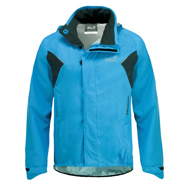 JACK WOLFSKIN MEN CYCLONE JACKET ATLAS BLUE