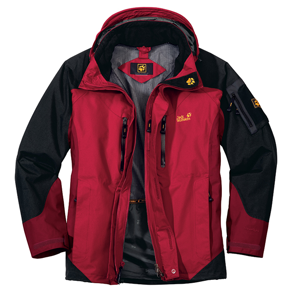 JACK WOLFSKIN MEN ALL TERRAIN JACKET INDIAN RED