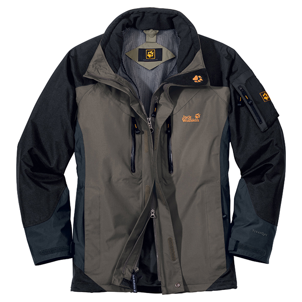 JACK WOLFSKIN MEN ALL TERRAIN JACKET BASALT