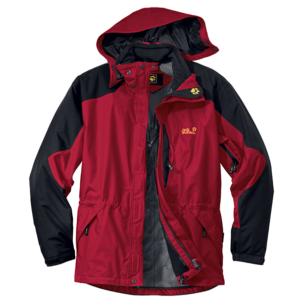 JACK WOLFSKIN MEN BLACK RANGE INDIAN RED