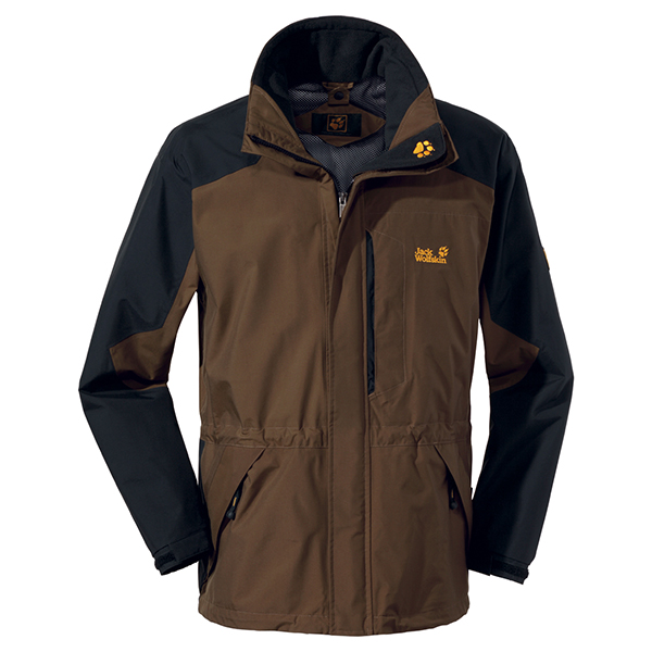 JACK WOLFSKIN MEN BLACK RANGE SOIL BROWN
