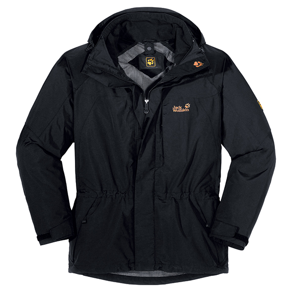 JACK WOLFSKIN MEN ELEMENTS XT JACKET BLACK