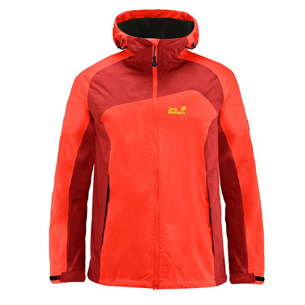 JACK WOLFSKIN MEN CLOUD STREAM JACKET SPICY ORANGE