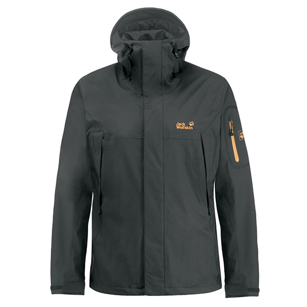 JACK WOLFSKIN MEN ASCENT JACKET PHANTOM