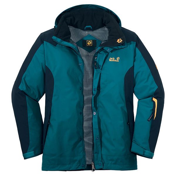 JACK WOLFSKIN MEN MOUNTAIN REBEL JACKET BALTIC BLUE