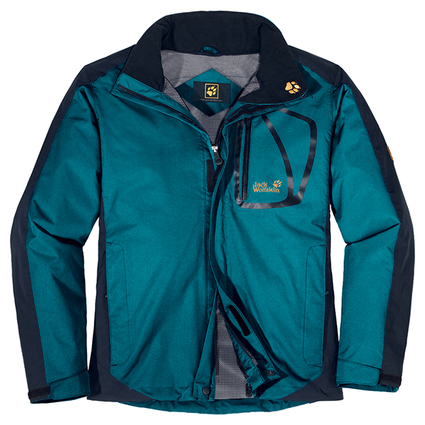 JACK WOLFSKIN MEN POSITRON JACKET BALTIC BLUE