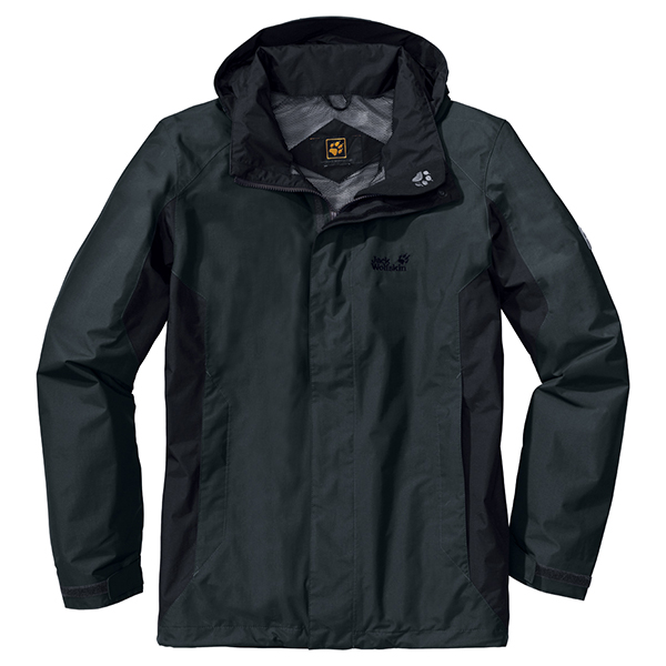 JACK WOLFSKIN MEN QUANTUM JACKET SHADOW BLACK