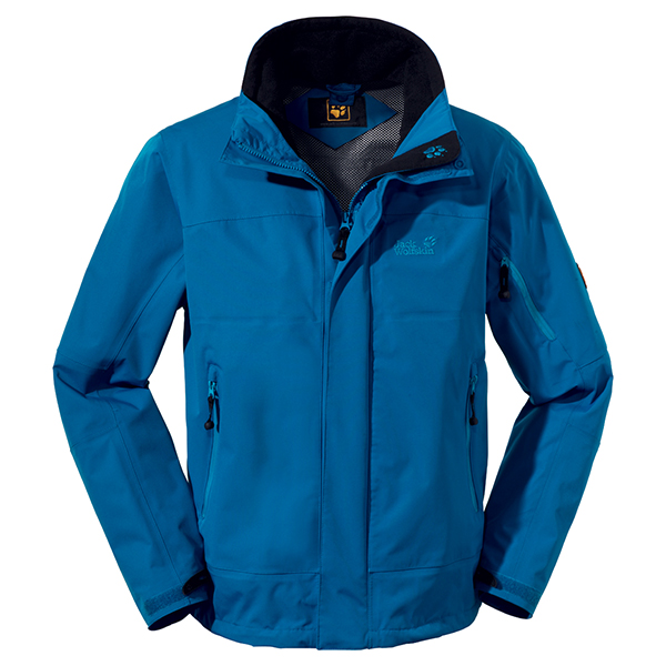 JACK WOLFSKIN MEN RESOLUTION JACKET ELECTRIC BLUE