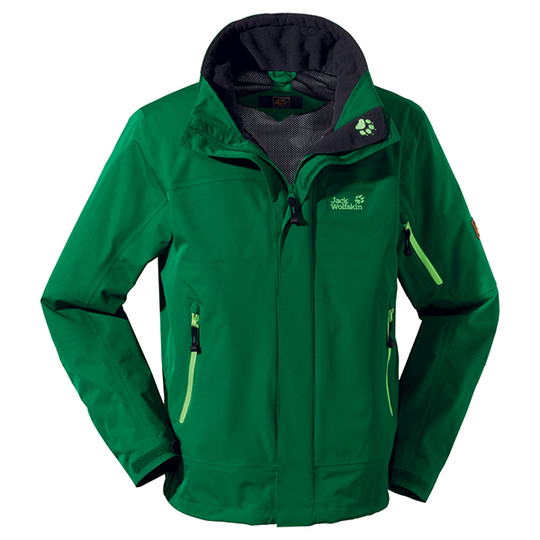 JACK WOLFSKIN MEN RESOLUTION JACKET CUCUMBER GREEN