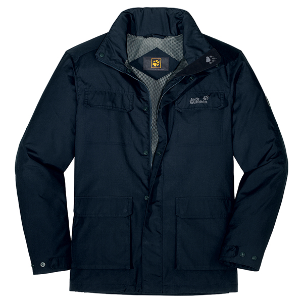JACK WOLFSKIN MEN SAREK JACKET BLUE GRAPHITE