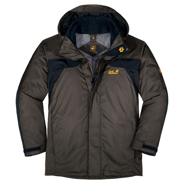JACK WOLFSKIN MEN TOPAZ JACKET GRANITE