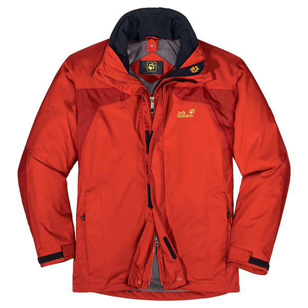 JACK WOLFSKIN MEN TOPAZ JACKET SPICY ORANGE