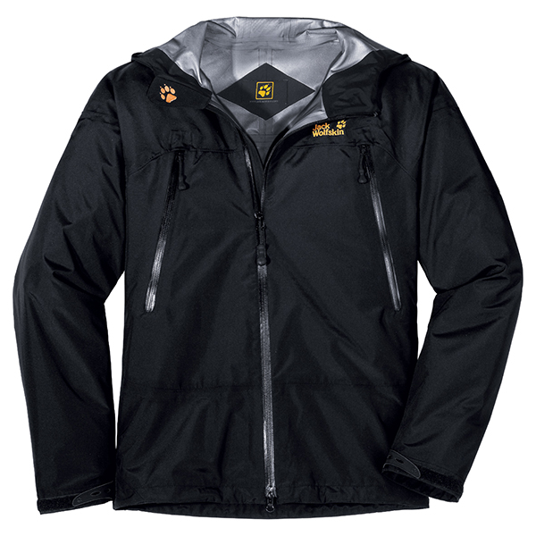 JACK WOLFSKIN MEN DISSENTER JACKET BLACK