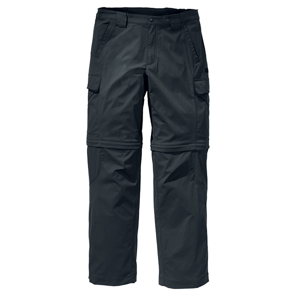 JACK WOLFSKIN MEN ACTIVATE ZIP OFF PANTS SHADOW BLACK