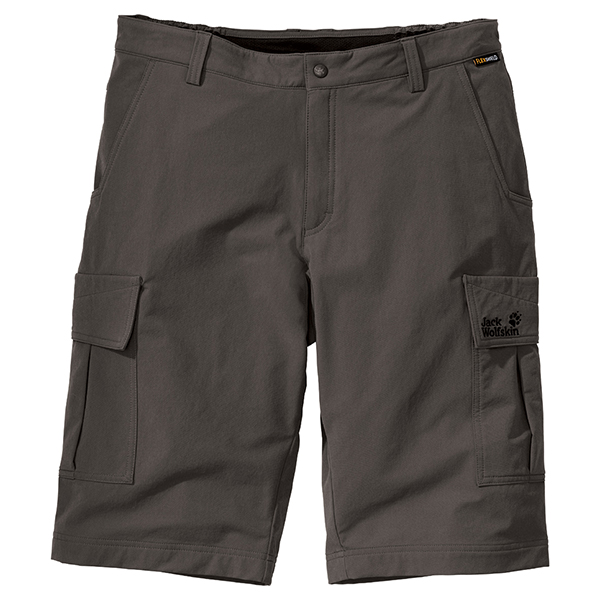 JACK WOLFSKIN MEN ACTIVATE SHORTS GRANITE