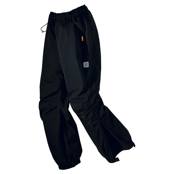 JACK WOLFSKIN MEN RAIN PANTS BLACK
