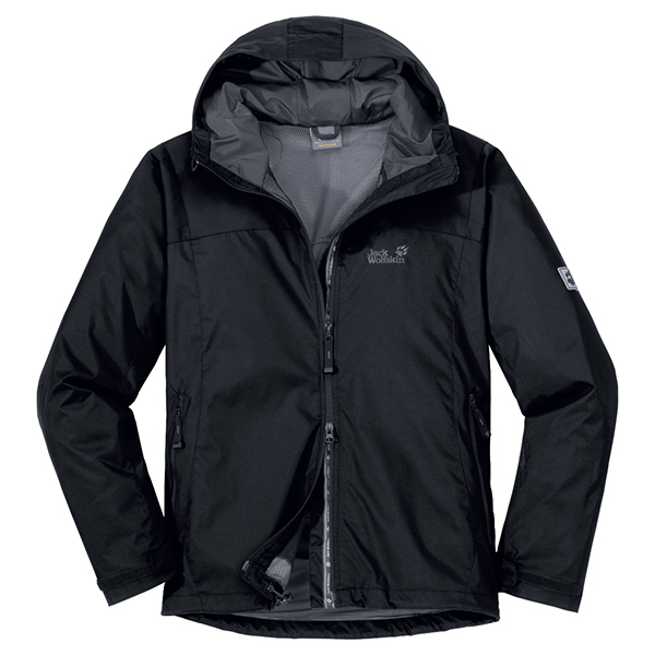 JACK WOLFSKIN MEN VORTEX JACKET BLACK