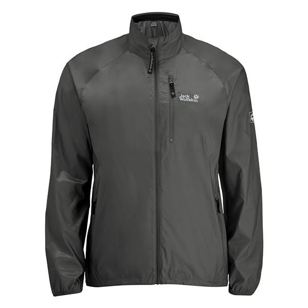 JACK WOLFSKIN MEN UPWIND JACKET PHANTOM
