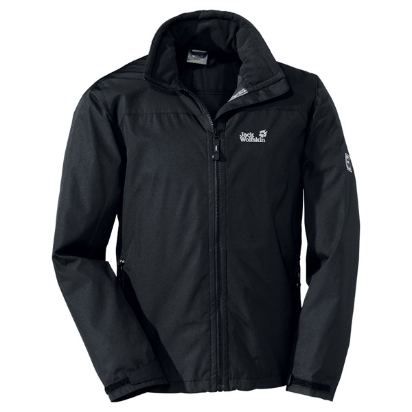 JACK WOLFSKIN MEN TAIFUN JACKET BLACK