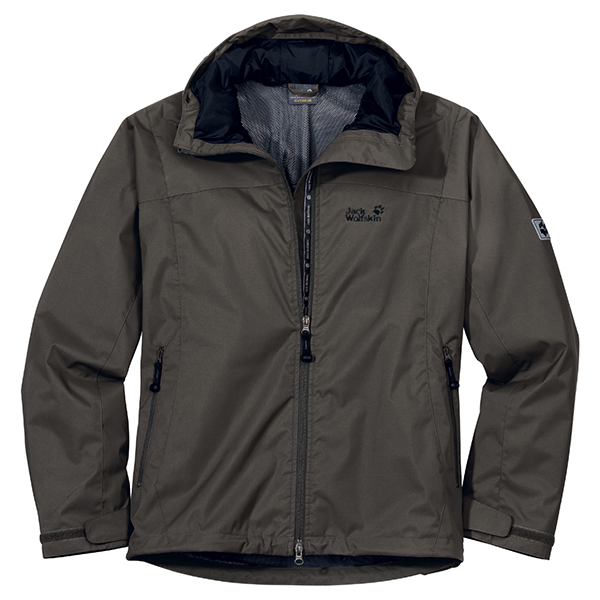 JACK WOLFSKIN MEN VORTEX JACKET GRANITE