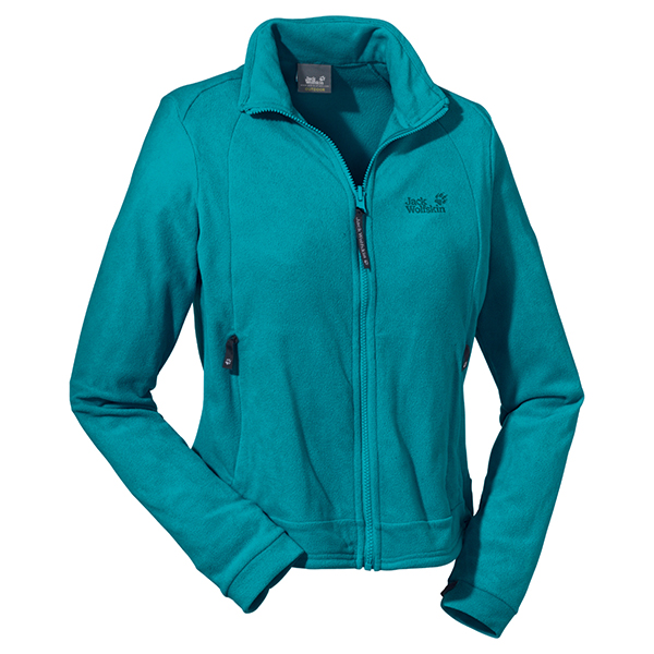 JACK WOLFSKIN WOMEN ATMOSPHERE FULL ZIP GLACIER BLUE