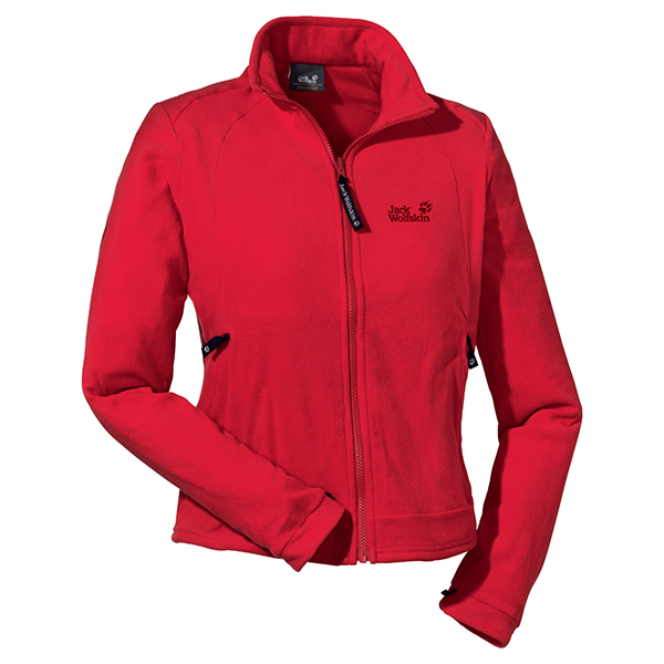 JACK WOLFSKIN WOMEN ATMOSPHERE FULL ZIP PEAK RED