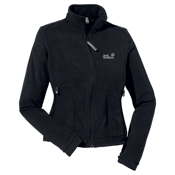 JACK WOLFSKIN WOMEN ATMOSPHERE FULL ZIP BLACK