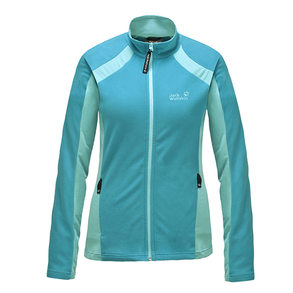 JACK WOLFSKIN WOMEN DYNAMIC FULL ZIP GLACIER BLUE