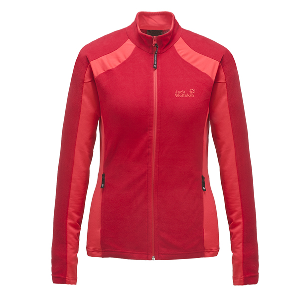 JACK WOLFSKIN WOMEN DYNAMIC FULL ZIP TANGO RED